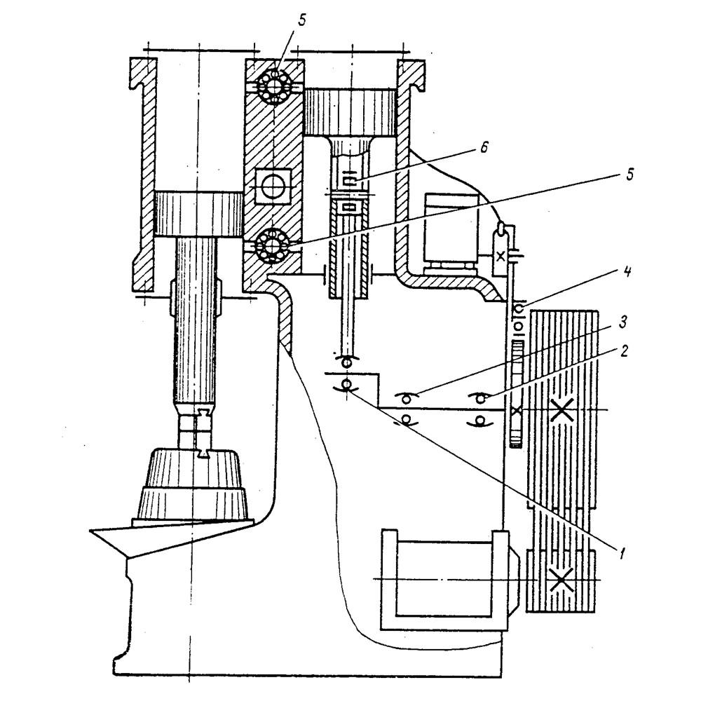 Схема кинематическая и схема расположения подшипников
