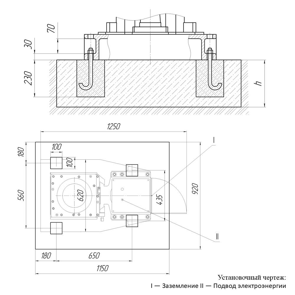Фундамент станка 2С132