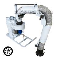 Установка вентиляционная пылеулавливающая УВП-1200АК с ПВУ (на колесной опоре)