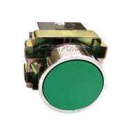 Кнопка управления с фиксацией 10А, 400V, зеленая