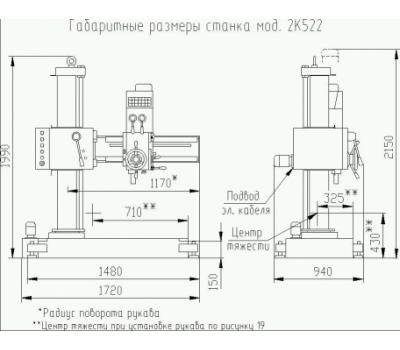 Станок радиально-сверлильный 2К522-03 с СОЖ