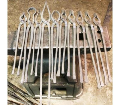 Комплект кузнечных кованых титановых клещей