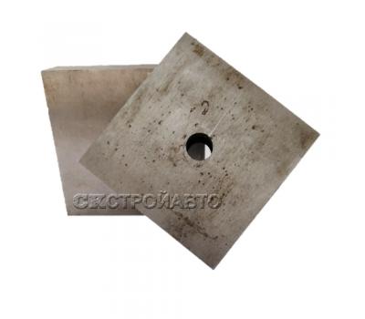 Нож к станку для резки арматуры 83х83х16 мм, 1 отв. (GQ-40)